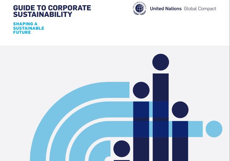 """Руководство по корпоративной устойчивости """"Формируя устойчивое будущее"""" (Guide to Corporate Sustainability """"Shaping sustainable future"""")."""