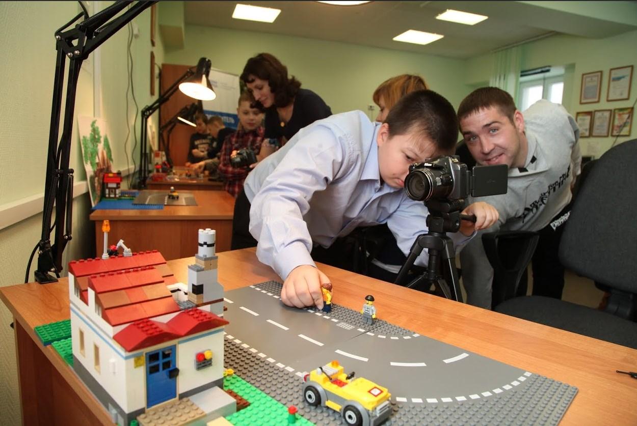 Съемки анимационного фильма студия Lego-анимация