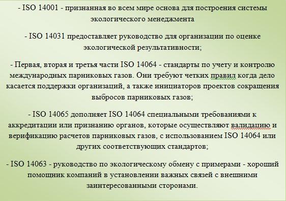 Стандарты ИСО 14 000