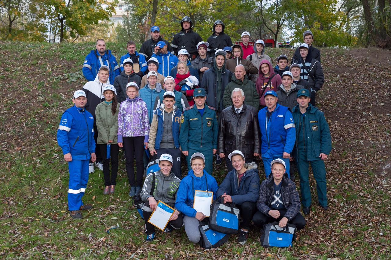 Волонтеры «Газпромнефть-МНПЗ» провели пожарную эстафету для школьников Капотни