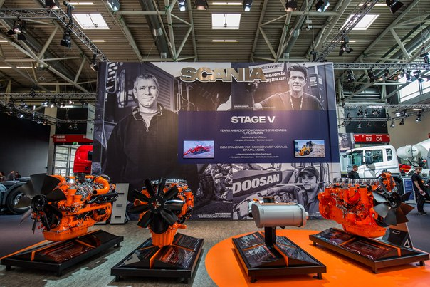 Scania представила промышленные двигатели для альтернативных видов топлива