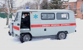 Нефтегаздобыча передала новый санитарный автомобиль селам Миргородщины