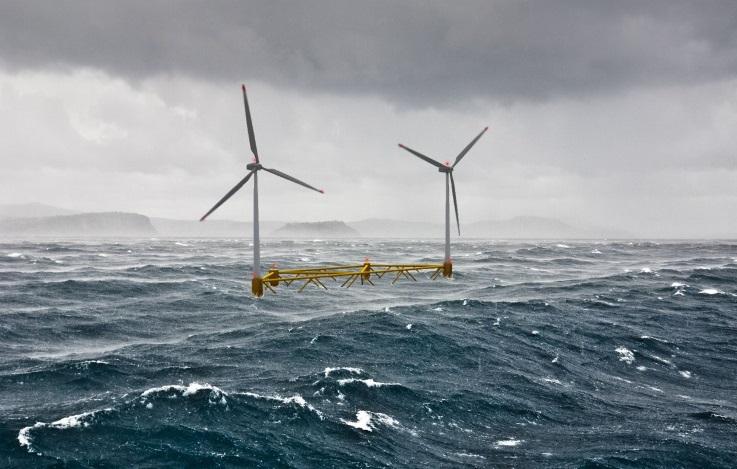 Крупнейшая плавучая ветряная электростанция снабдит энергией 56 000 шотландских домов