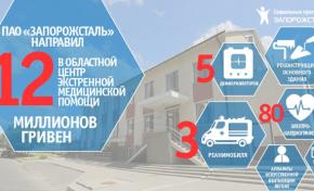 МК «Запорожсталь» помог создать в Запорожье областной центр экстренной медицинской помощи