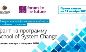 Грантовый конкурс для профессионалов в области устойчивого развития и социального предпринимательства School of System Change