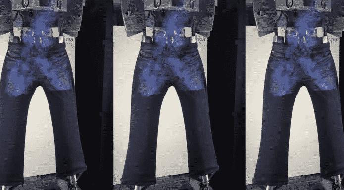 Levi's использует лазер для обработки джинс