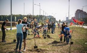 Сотрудники Росатома приняли участие в первой корпоративной волонтерской акции по посадке деревьев