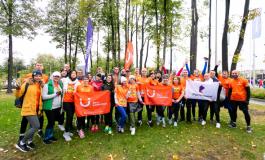 Команда «Бегу и помогаю» на Московском марафоне