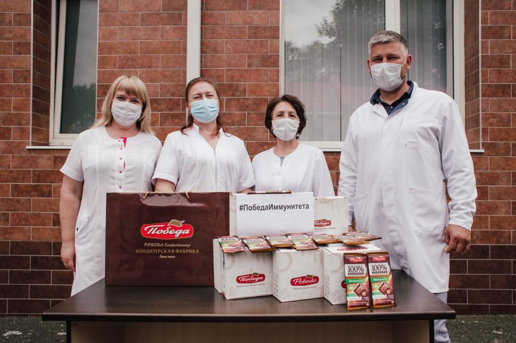 КФ «Победа» поддерживает краснодарских врачей шоколадом для укрепления иммунитета